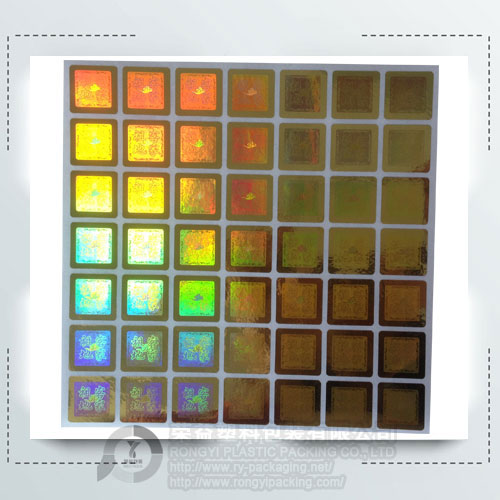 Rainbow Hologram Foil Labels