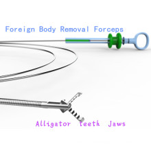 Single Use Alligator Teeth Shape Foregin Body Forceps
