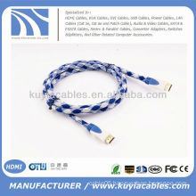 High Quality nylon net HDMI over Ethernet Cable 1.4 Bluray 3D DVD PS3 HDTV XBOX LCD HD TV 1080P
