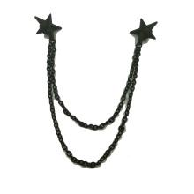 Stern-geformte kundenspezifische Pin-Brosche-Metallhemd-Kragen-Brosche