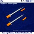 Одноразовые 1cc Инсулиновые шприцы на 0,5 мл Инсулиновые шприцы 0.3 куб. Инсулиновые шприцы (ЭНК-М-040)