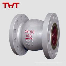 Clapet anti-retour à ressort silencieux SS304 / 316 en acier inoxydable