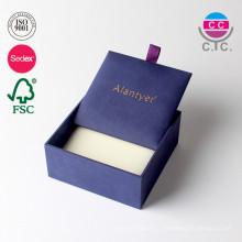 Caja de cartón de empaquetado de cartón de regalo de cuero personalizado