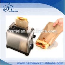 Alta tepreture resistencia PTFE marrón toasty bolsa