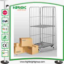Plegable Logisitc Laundry Storage Seguridad Roll Container Trolley