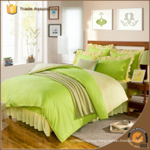Luxury Brushed Fabric Solid Bright Color Bedding Set For Home Use