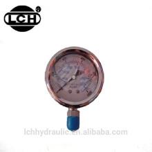 Válvula tipo bourdon com enchimento a óleo para manômetro