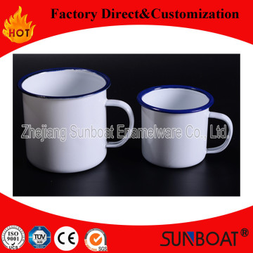 Popular 1L Cup Enamel Mug Sunboat Enamel Mug Kitchenware