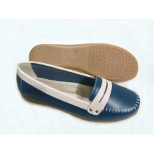 Classic Comfort Lady Shoes with Flat TPR Outsole (SNL-11-018)