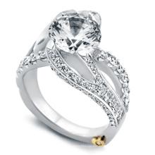 Горячие продажи 925 Серебряный захватывающий обручальное кольцо с белой CZ