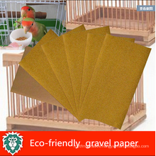 Eco-friendly gravel sand paper for pet bird