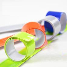 Custom Logo Reflective Slap Bands Snap Bracelet