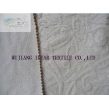 Tissu floqué gaufré collé avec tricot