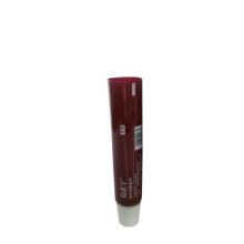 Tubo vermelho chinês para embalagem de tubo de batom com tampa branca
