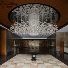 Lumière faite sur commande de lustre de lobby moderne d'hôtel pour le bas plafond