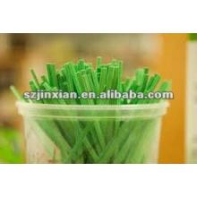 lazos verdes de giro en los dulces