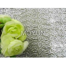 POLY MESH WITH 3MM +5MM SEQUIN EMBROIDERY 50 52""