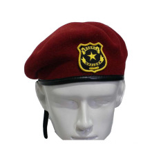 Red Wool Military Beret (GK25-003)