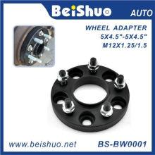 Adaptador de roda de 5 furos com superfície preta anodizada
