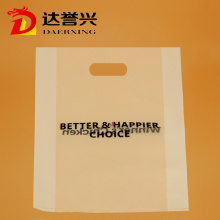 HDPE Die Cut Bag with Black Logo