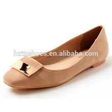 Square toe with metal women chaussures de mode pour dance ballet shoes
