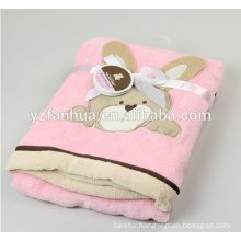 Plain Style and coral fleece Material baby blanket