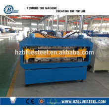 Doppelschicht-Stahl-Dachformmaschine, automatische Dach-Trapez-Plattenprofile Rollenformmaschine von Hangzhou China