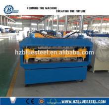 Techo de acero de doble capa que forma la máquina, Techo trapezoidal automático de la hoja que perfila el rodillo que forma la máquina de Hangzhou China
