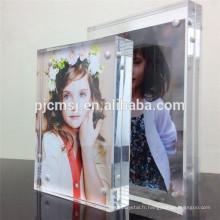 2016 cadre photo en cristal pur, cadre photo en cristal pour la fixation des photos