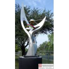 Carving Big Stainless Steel Sculpture