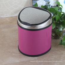 Botella de basura del sensor de Aotomatic del estilo europeo rosado para el hogar / la oficina / el hotel (D-9L)
