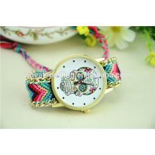 Alibaba promoção top CrossBones personalizado crânio relógio de quartzo antigo