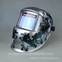 Mais novo e Solar Auto escurecimento soldagem capacete EN379