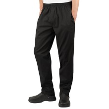 Cotton/poly chef pants black twill