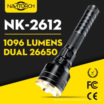 Lampe-torche lumineuse en aluminium rechargeable de CREE-U2 LED 1096 lumens LED (NK-2612)