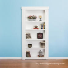 30 in. x 80 in. Unassembled Paint Finished Wood Bookshelf Interior Door