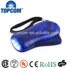 Lampe de poche dynamo à ressort dynamométrique ABS ABS 3 couleurs