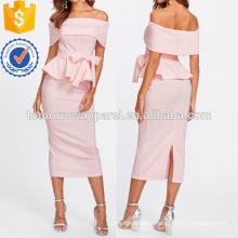 Foldover Peplum Top & Skirt Set Manufacture Wholesale Fashion Women Apparel (TA4031SS)