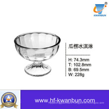 Mouth Blown Ice Cream Glass Bowl High Quality Glassware Kb-Hn0121