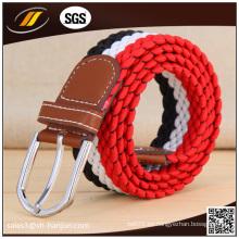 Lo nuevo cinturón elástico tejida unisex y correa de lona elástica de moda