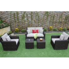 Bestes verkaufendes neueste synthetische Rattansofa-Gartenmöbel des neuen Entwurfs