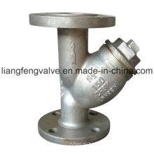 ANSI Фланцевый концевой Y-фильтр с нержавеющей сталью
