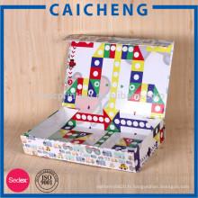 boîte de papier d'emballage pour le jeu de cartes d'enfants