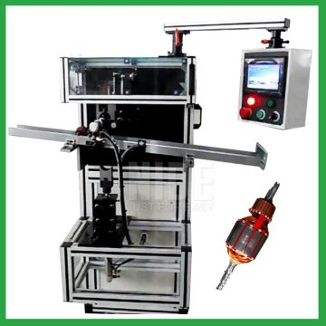 Automatic motor rotor slot insulation wedge inserting machine