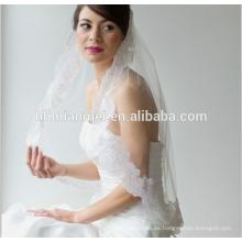 2017 nuevo estilo de novia de encaje catedral larga velo de novia al por mayor