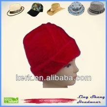 LSA08 Angora de Inverno de Alta Qualidade promocional chapéu e boné por atacado