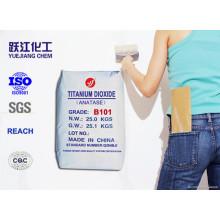 Uso general Polvo blanco fino y blando Anatase Dióxido de Titanio