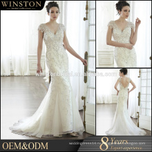 Фабрика OEM съемный кружева свадебное платье 2016