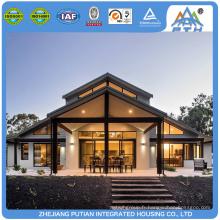 Villa moderne préfabriquée en acier léger économique
