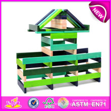 DIY Toy Wood Toy Block for Kids, Cheap Toy Building Block for Children, Educational Toy Wooden Toy Pile up Blocks Game W03b013